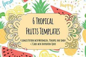 6 Tropical Fruits Templates