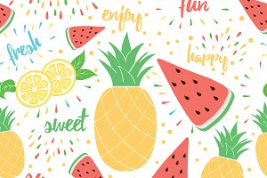 6 Tropical Fruits Templates