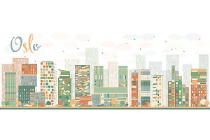 Abstract Oslo Skyline