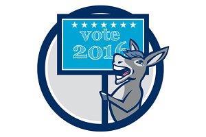 Vote 2016 Democrat Donkey Mascot