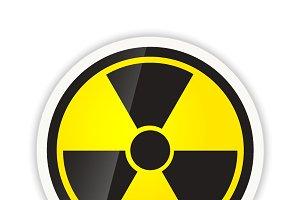 Bright glossy radiation icon