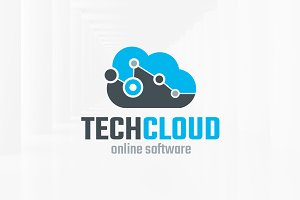Tech Cloud Logo Template