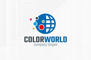 Color World Logo Template