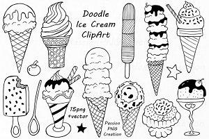 Doodle Ice Cream ClipArt