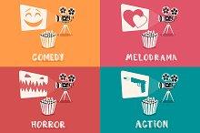 Set of movie genres