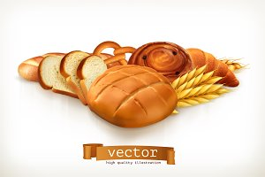 Bread, vector illustration