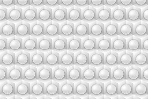 White cube and sphere pattern