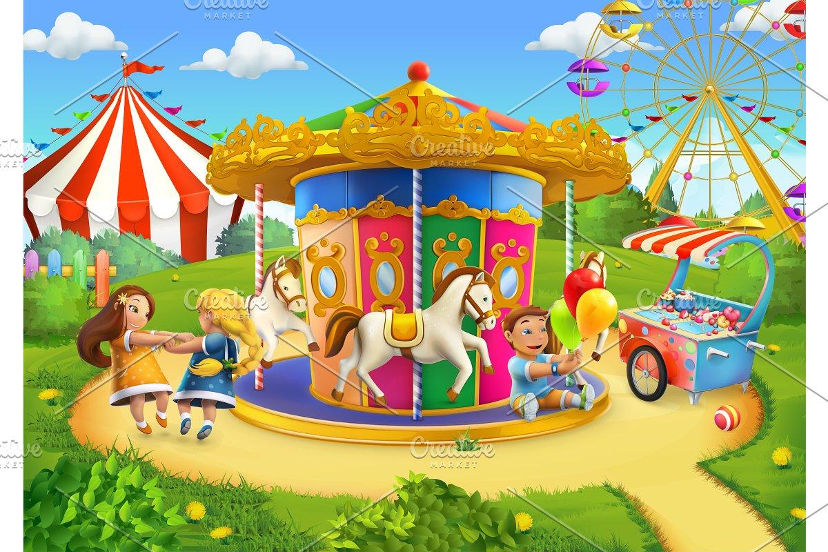 dff483e56 Park, playground, game background ~ Icons ~ Creative Market