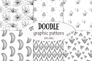 Doodle graphic patterns