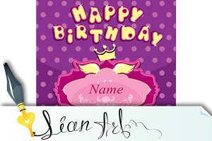 Happy birthday - Invitation card