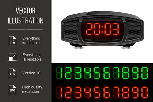 Black alarm clock ~ Graphic Objects ~ Creative Market