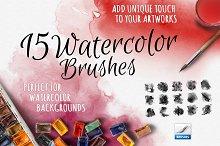 15 Watercolor Handmade Brushes