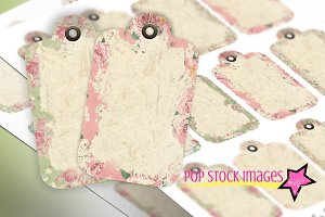 Shabby Chic Printable PDF Tag Sheet