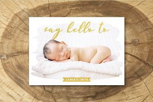 Birth Announcement Template 011