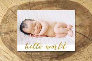 Birth Announcement Template 010