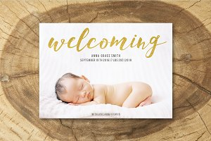 Birth Announcement Template 009