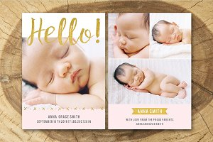 Birth Announcement Template 008