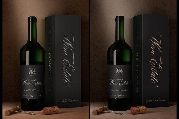 Free Wine Packaging Mock-Up