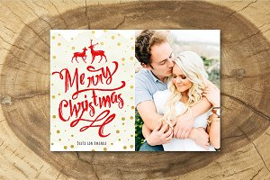 Christmas Card Template 021