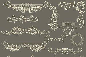 Vector Lacy Vintage Design Elements