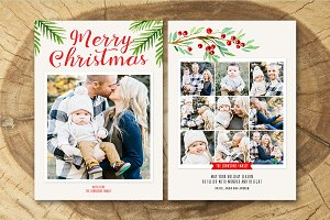 Christmas Card Template 019