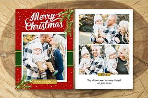 Christmas Card Template 018
