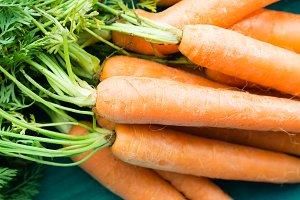 Fresh carrots closeup