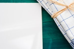 Blank page and napkin
