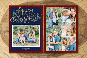 Christmas Card Template 017