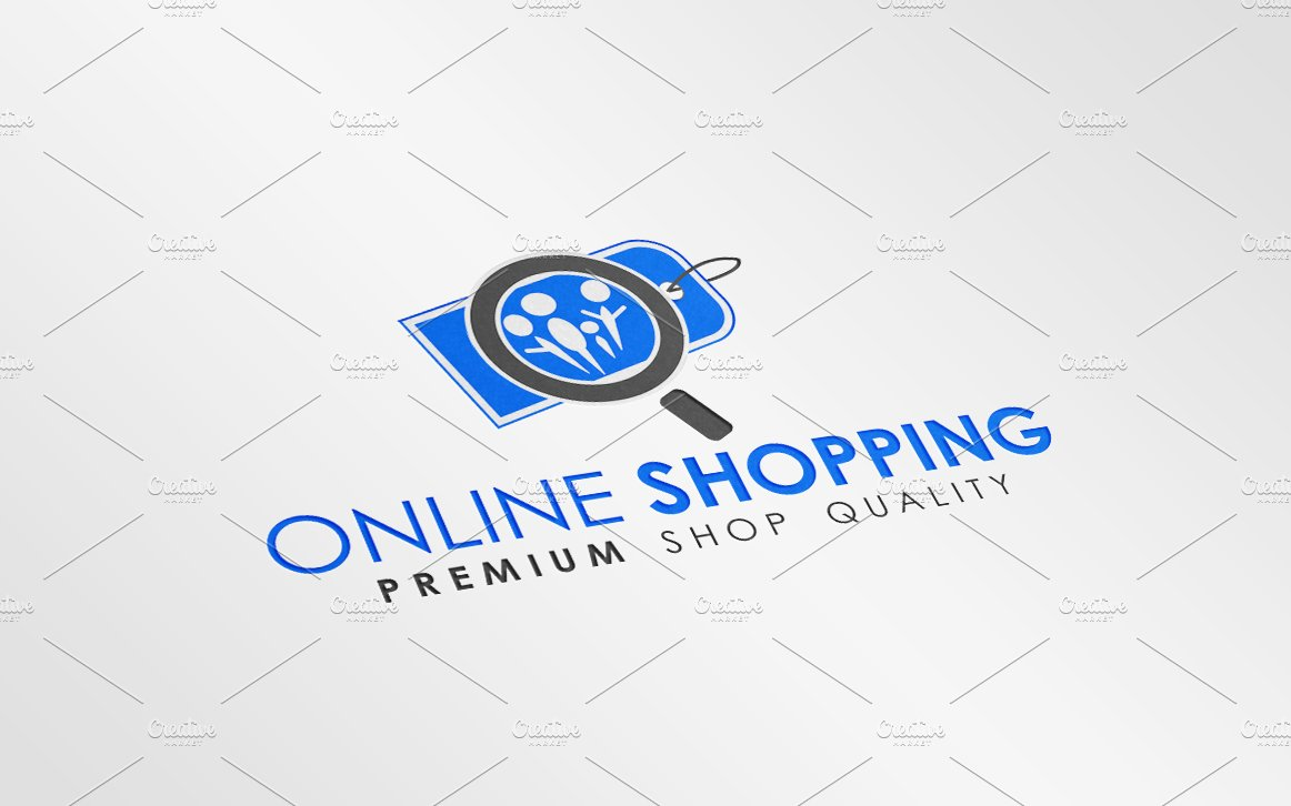 Online shopping logo template logo templates on creative for Design on line outlet