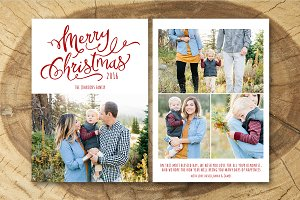 Christmas Card Template 015