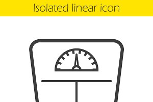 Floor scales icon. Vector