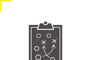 Clipboard game plan icon. Vector