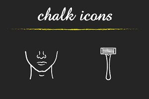 Shaving icons. Vector