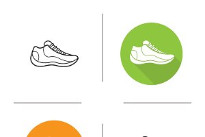 Sneakers icons. Vector