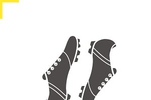 Soccer boots icon. Vector