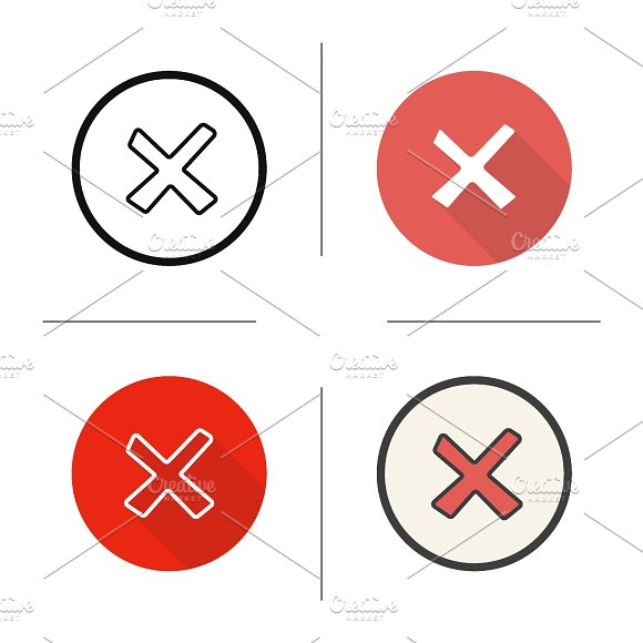Cancel icons. Vector - Icons