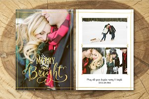 Christmas Card Template 014