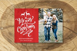 Christmas Card Template 013
