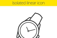 Wristwatch icon. Vector