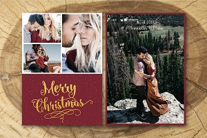 Christmas Card Template 011