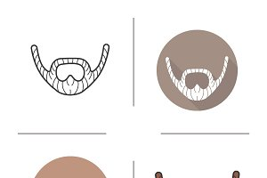 Beard icons. Vector
