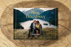 Christmas Card Template 002-H