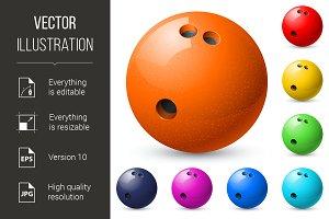 Set of bowling balls