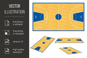 Basketball court floor plan.