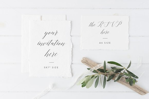 Wedding Invitation Suite Mock Up Product Mockups