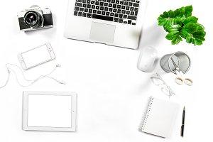 Workplace Office desk Flat lay JPG
