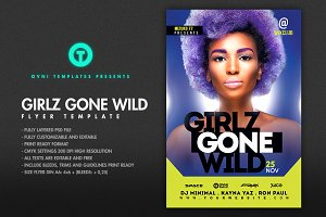 GIRLS GONE WILD Flyer Template