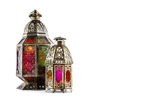 Oriental lantern Arabic decoration