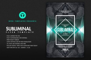 THE SUBLIMINAL Flyer Template